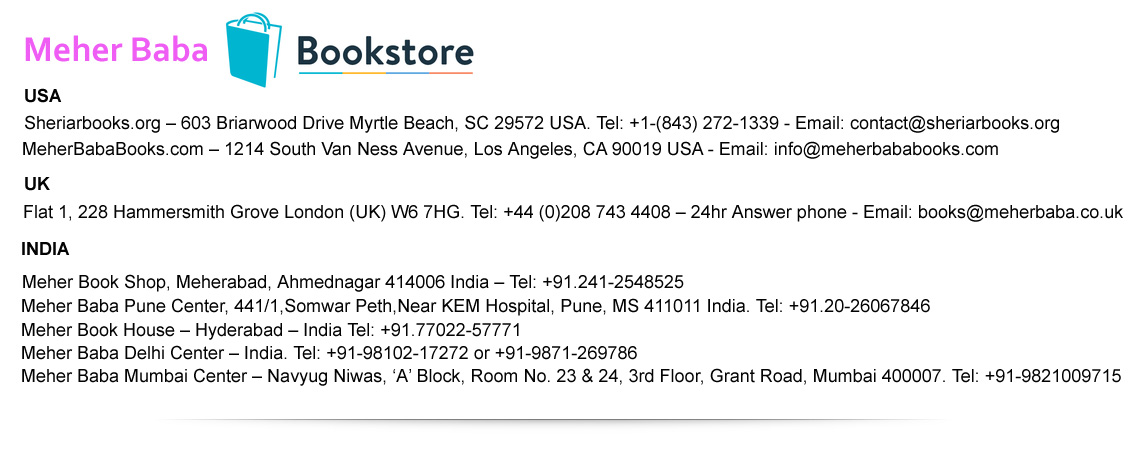 meher baba book stores for book order online