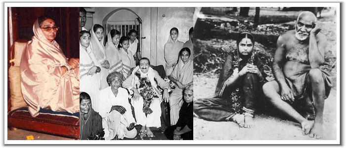 (1 ) Godavari (2) With Meher Baba (3) With Upasni Maharaj
