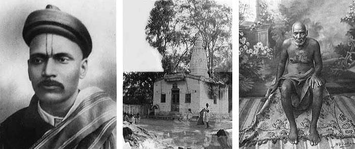 (1) Sadguru Shri Upasni Maharaj (2 Khandoba Temple (3) Maharaj at Bombay 1920