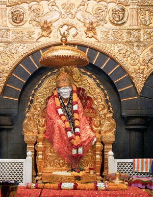Sai Baba Temple Shirdi in gold
